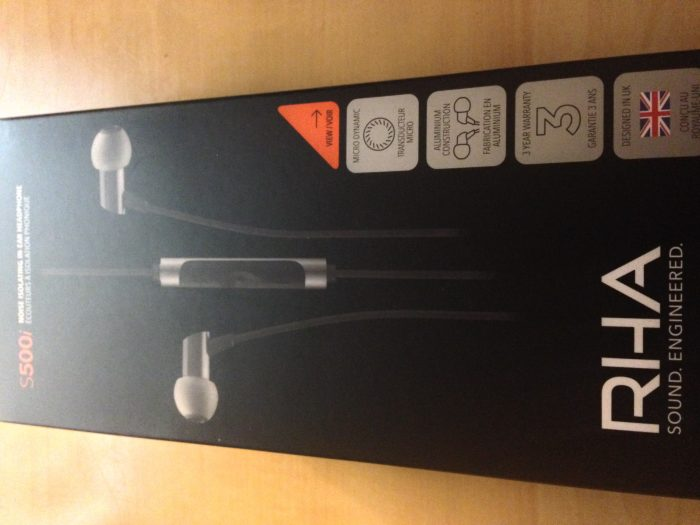 RHA S500i earbuds   review