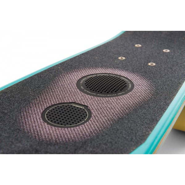 Mobile music while you ride. Bluetooth skateboard speaker now available.