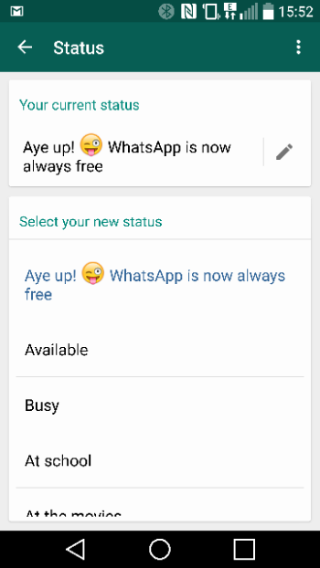 WhatsApp becomes free a FreeApp
