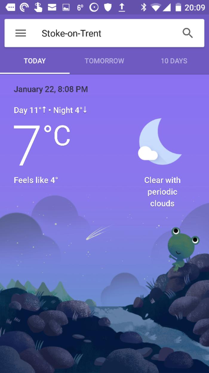 google updates its now weather app