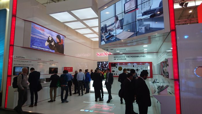 MWC   A tour of the SanDisk stand