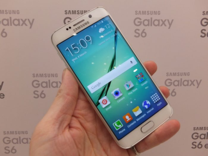 A Samsung Galaxy S6 edge with a bit of 007 technology added