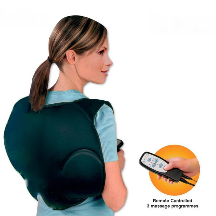 A backpack that gives you a gentle rub