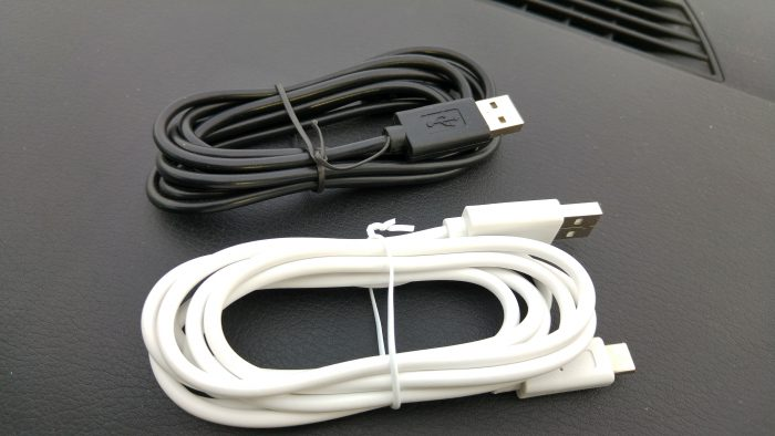 Tronsmart Type C and micro USB cables overview