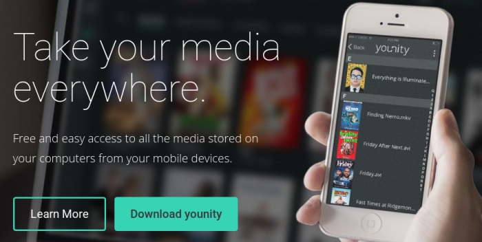Stream your home content to your mobile with younity