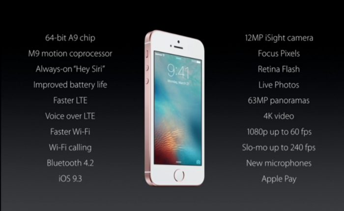 Apple Announce the iPhone SE and a Smaller iPad Pro