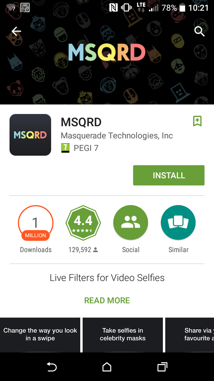 MSQRD now available for Android too