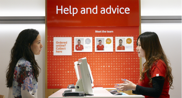 Voda and EE at the bottom customer service scores