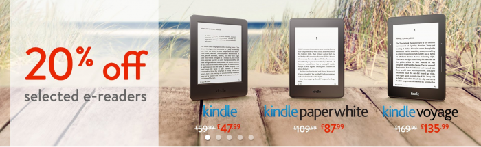 Get 20% Off Selected Kindle eReaders