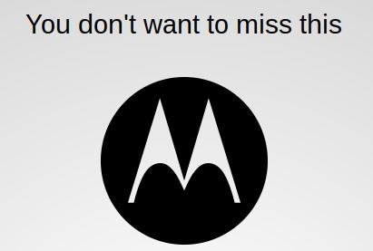 Moto announcement   Live