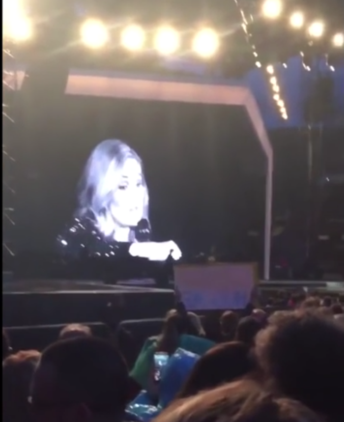 Adele wants you to enjoy real life instead of viewing everything through a screen