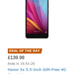 Honor 5X now £139.99 at Amazon