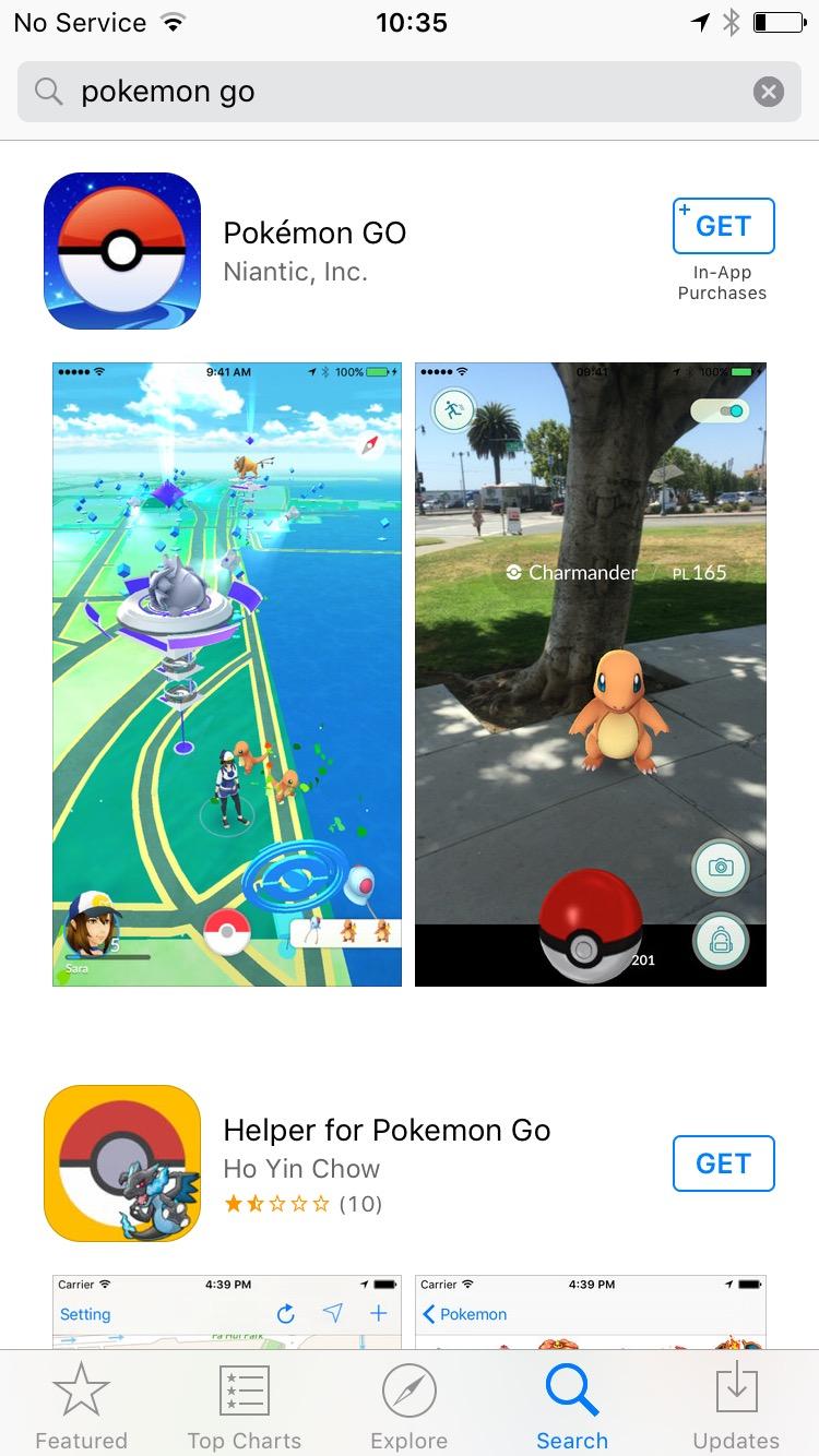 Pokémon Go now in the UK too