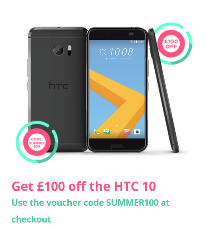 Get £100 off the HTC 10