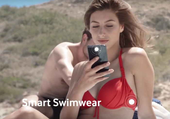 Vodafone want to stick brains into your bikini