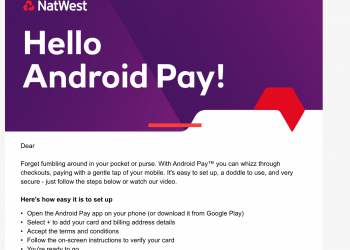 NatWest Android Pay email