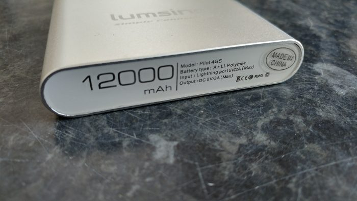 Lumsing Pilot 4GS 12000mAh Portable Charger   Review