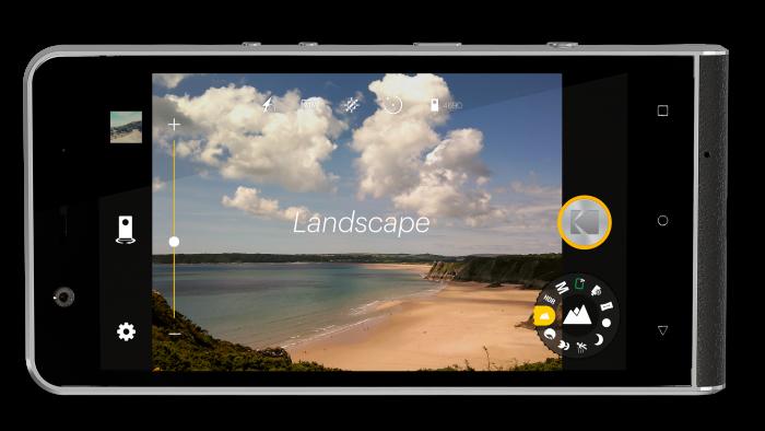ektra camera ui mockup landscape