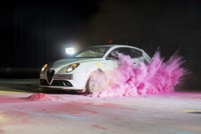 new alfa mito white veloce pink powder paint