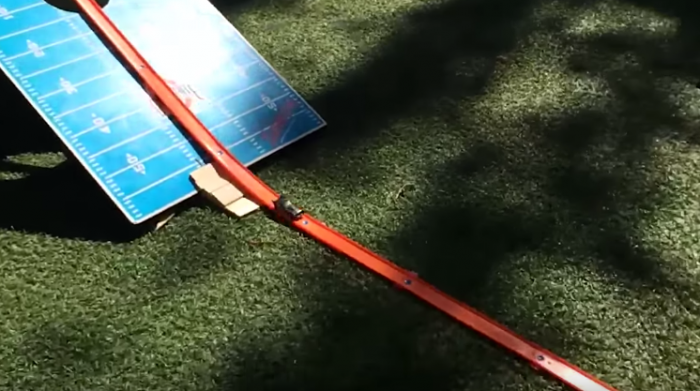 Hot Wheels stunts, filmed on a tiny car camera