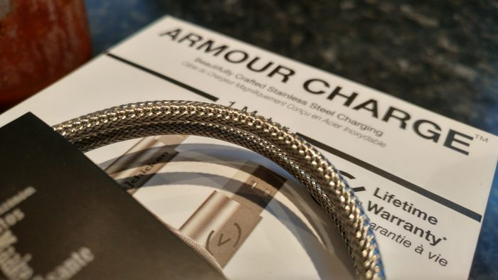 Armour Charge Cable   Up close and personal