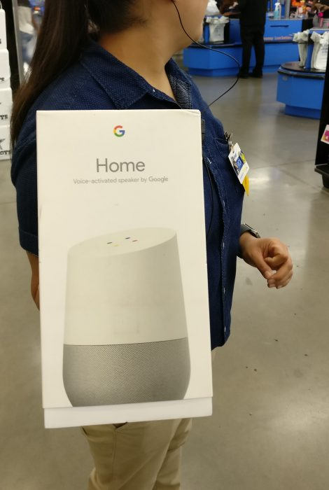 Google Home found at Walmart, what a tease...