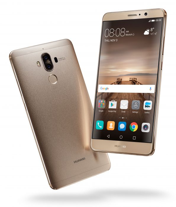 mate 9 champagne gold front back