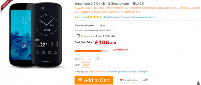 Festive Feature #4 – YotaPhone 2 now really quite cheap