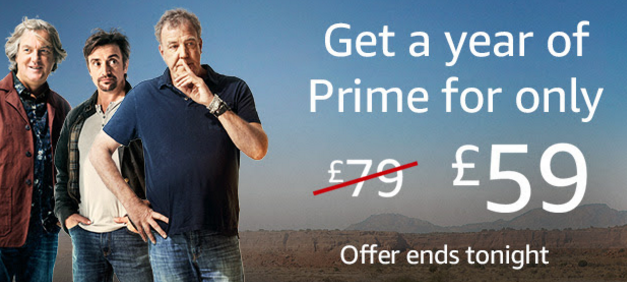 Amazon Prime discount ends tonight