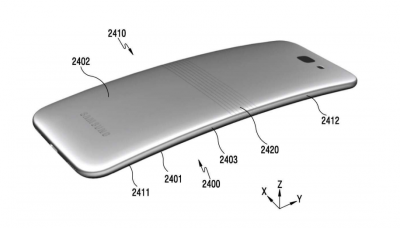 Samsung grab a patent for a flip phone ... sort of