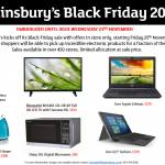 Sainsbury's Black Friday Deals – Revealed