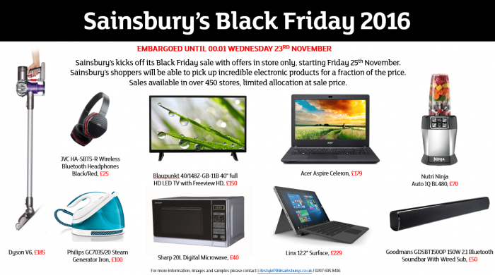 Sainsburys Black Friday Deals   Revealed
