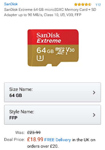 Festive Feature #8   SanDisk Extreme 64GB microSD going cheap
