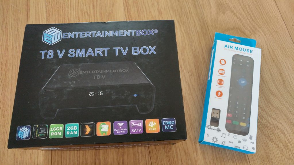 First look   The EBox T8 V Streaming TV Box   Version 5