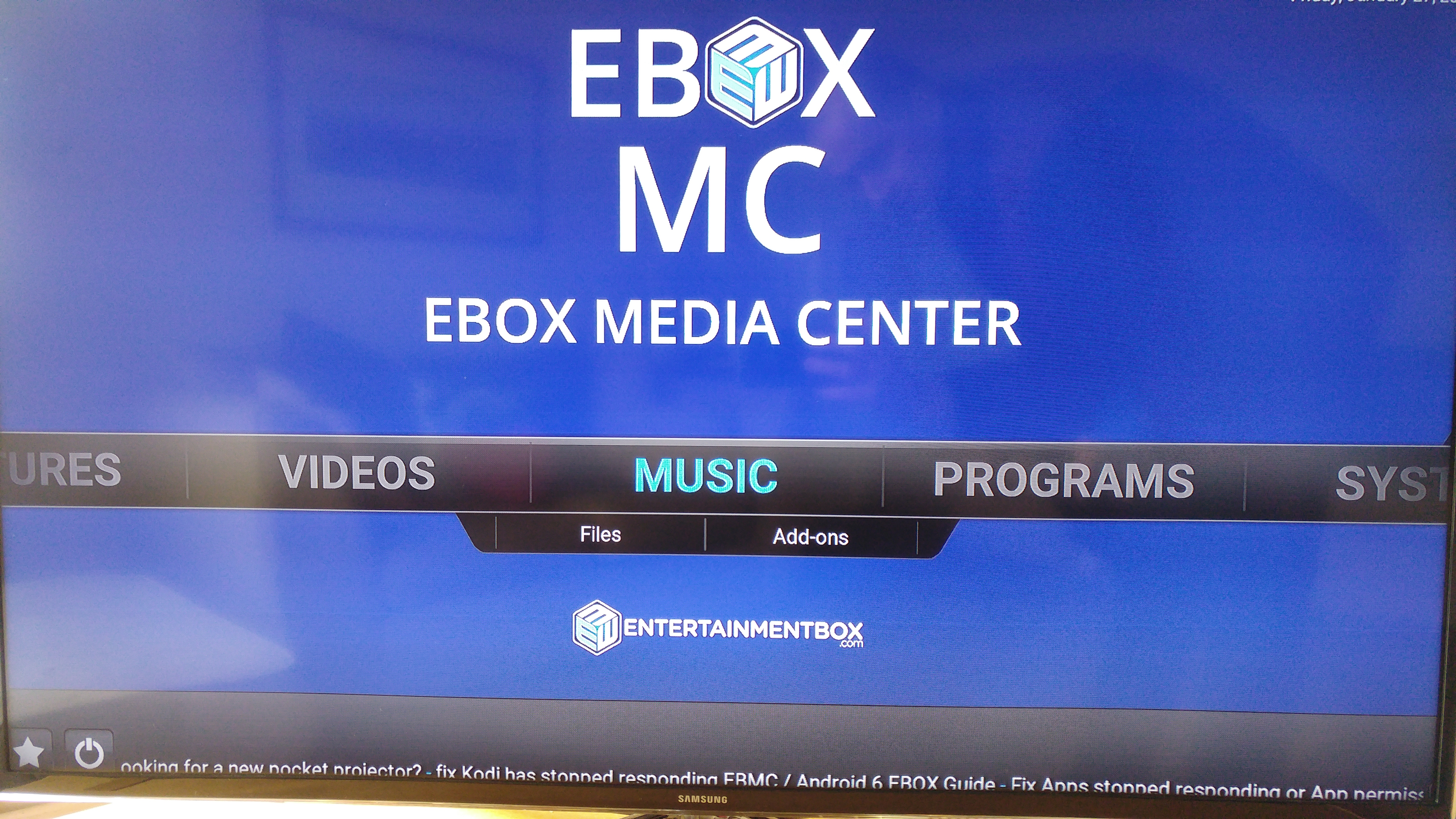 First look - The EBox T8 V Streaming TV Box - Version 5