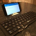 Welcome to my ultra mini office. iClever Foldable Wireless Bluetooth Keyboard – Review