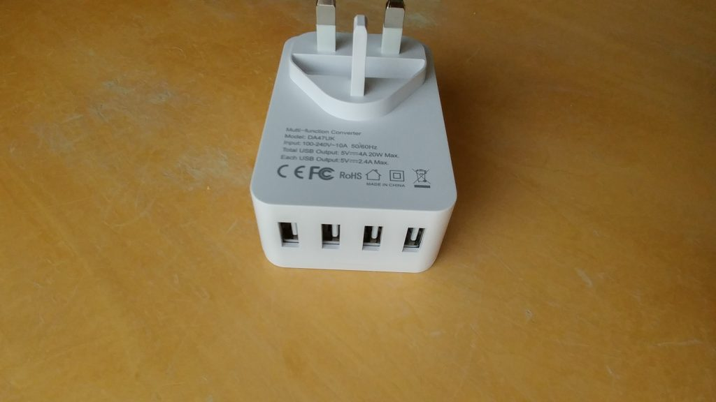dodocool 4 Port USB Charger with international socket output   Review