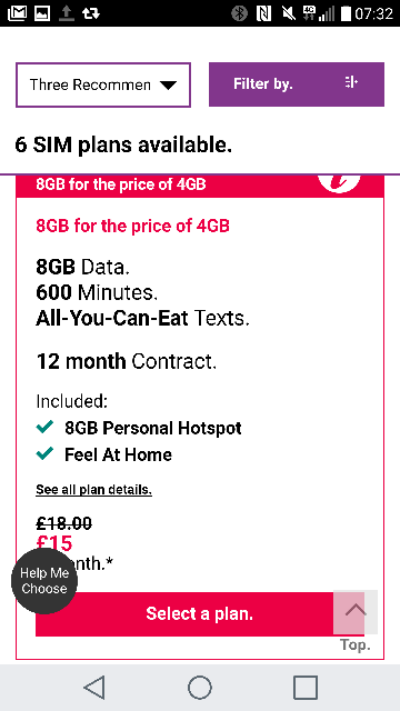 More SIM only deals   30GB on Three for not that much