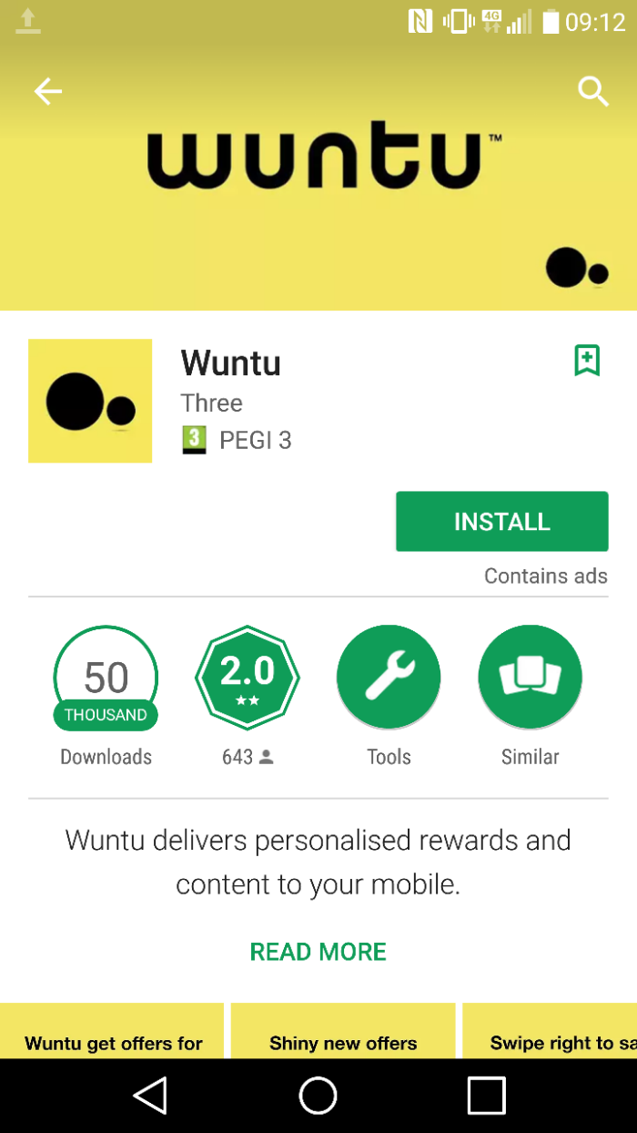 Three launch Wuntu   A new customer rewards app