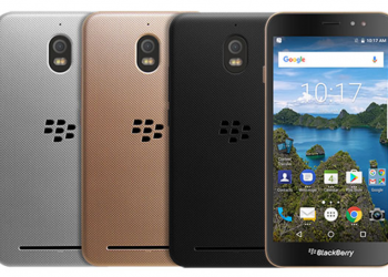 Blackberry Aurora 2 in gold, silver, black