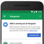 SMS integration to be removed from Google Hangouts.
