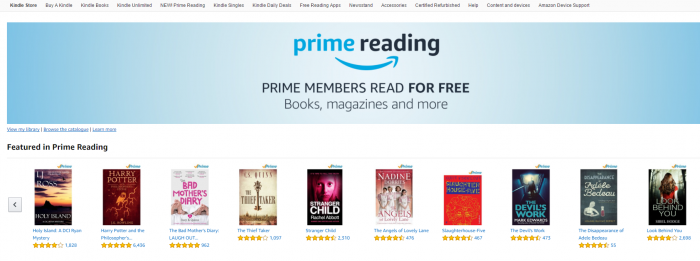 Amazon Prime Reading launched