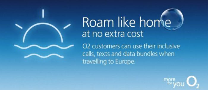 O2 announce inclusive European roaming too
