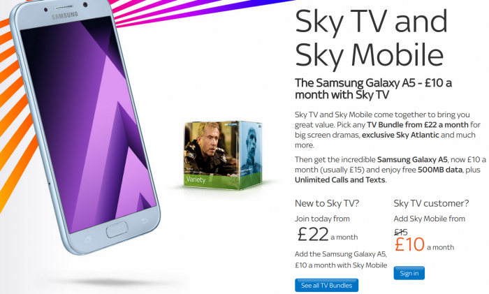 Sky Mobile   New £35 deal for bundled Sky TV and a mobile