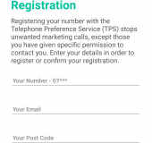 Register and check callers via the Telephone Preference Service