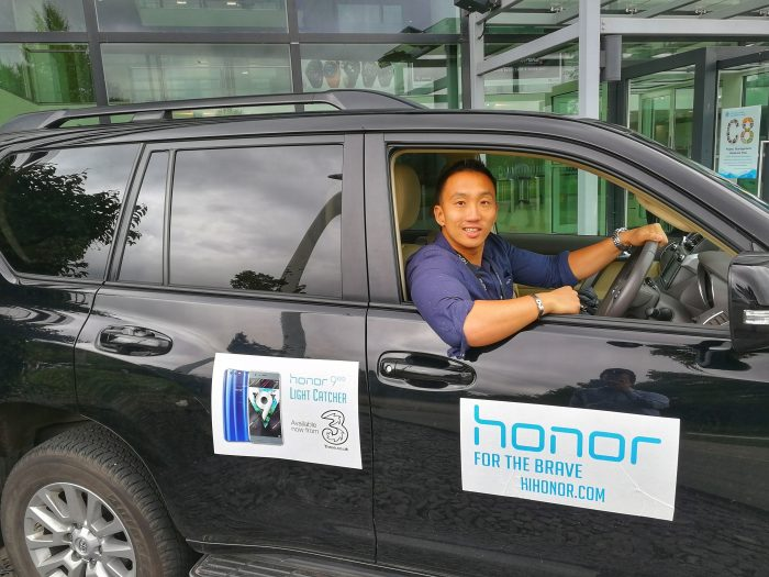 On the road with Honor