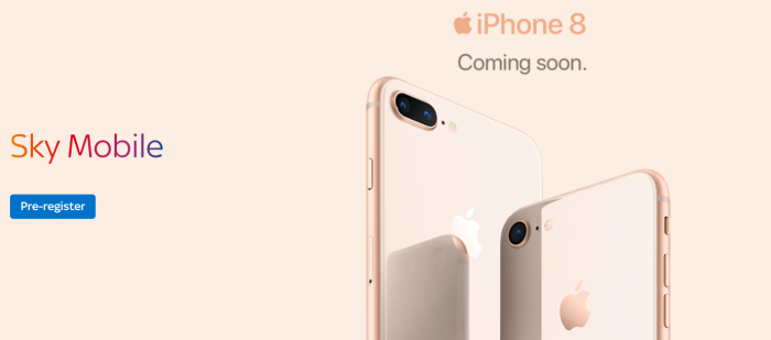 iPhone 8 and iPhone 8 Plus pricing announced by Sky Mobile