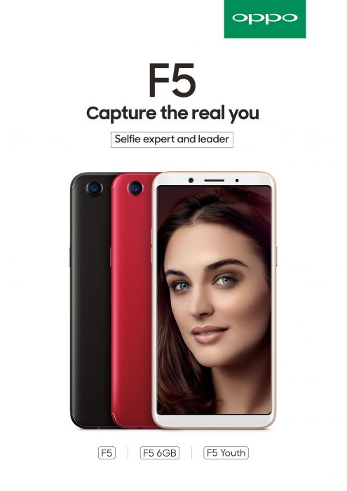 OPPO Launches the F5, complete with Expert Selfie AI