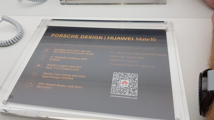 A look at the Porsche Design Huawei Mate 10 Pro