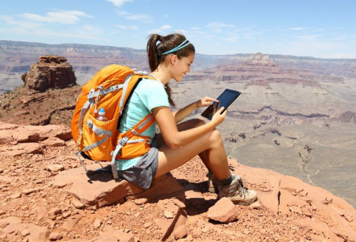 When a smartphone helps you with your backpacking